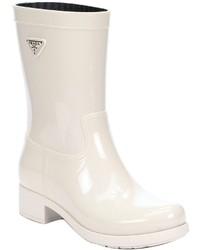 Prada Sport Powder Rubber Rain Boots