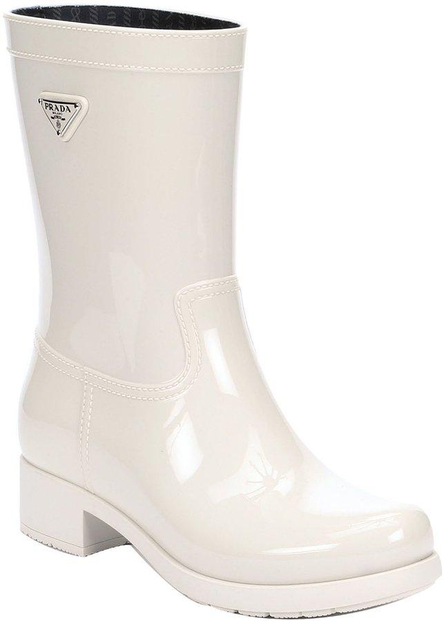 Prada Sport Powder Rubber Rain Boots | Where to buy & how to wear