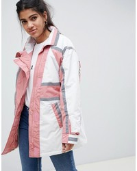 ASOS DESIGN Anorak Raincoat With Reflective Strips