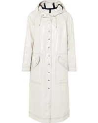 ALEXACHUNG Hooded Cotton Blend Trench Coat