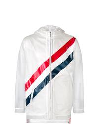 Thom Browne Translucent Striped Raincoat