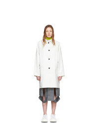 Kassl Editions White Above The Knee Coat