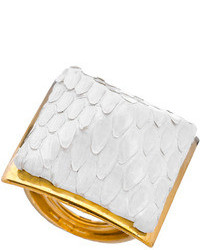 Ted Rossi White Python Pyramid Ring