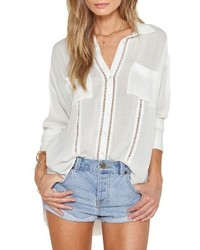 White Ripped Blouse