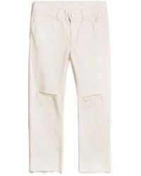 White Ripped Boyfriend Jeans