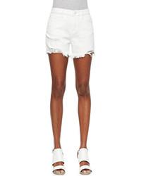 D id denim denim tomboy shorts white destroy medium 65635