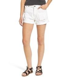 Cheap Monday Donna Distressed Rolled Denim Shorts