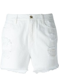 Ermanno Scervino Ripped Slim Fit Denim Shorts