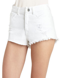 BCBGeneration High Waist Frayed Shorts