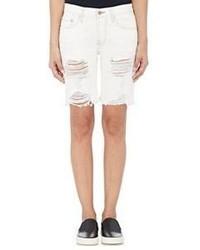 NSF Jane Distressed Shorts White Size 31