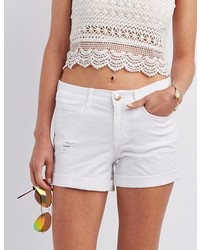 Charlotte Russe Refuge Girlfriend Destroyed Denim Shorts