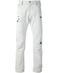Armani Jeans Distressed Slim Fit Jean