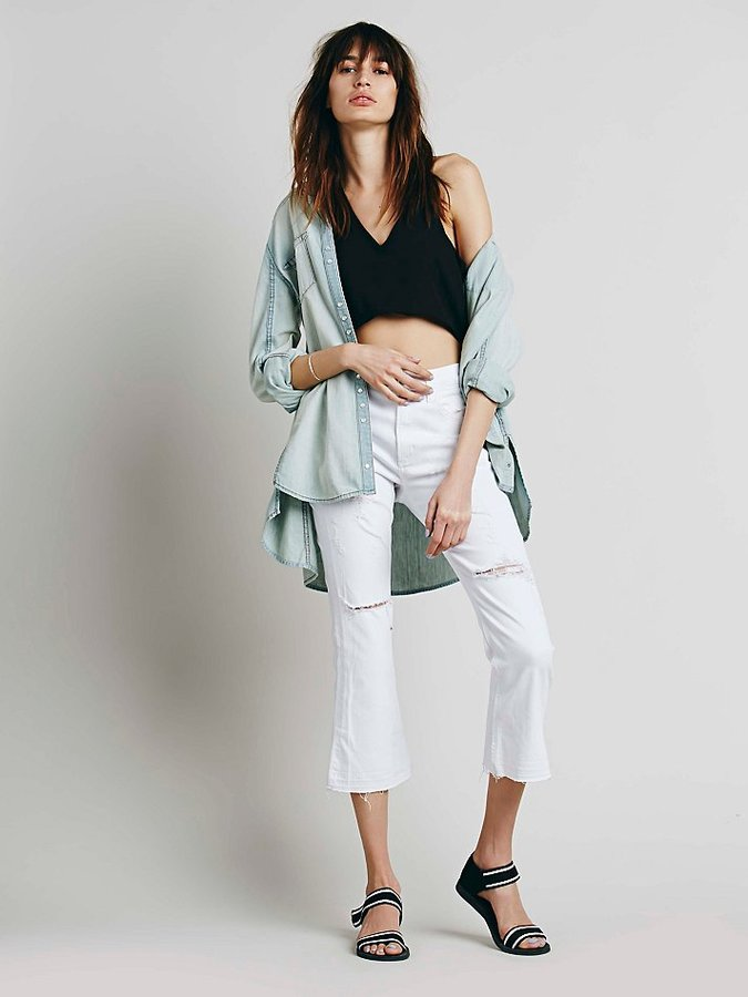 227e37a5c71ca ... Jeans Citizens Of Humanity For Free People Ripped White Crop Flare ...