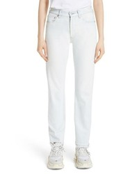 Balenciaga Destroyed Hem Straight Leg Jeans