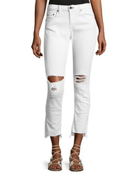 Jean dre distressed mid rise capri jeans white medium 3714582
