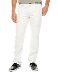 JF J.Ferrar Jf J Ferrar White Destroy Denim Skinny Fit Jeans