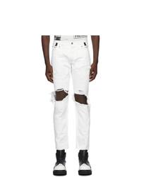 TAKAHIROMIYASHITA TheSoloist. White Grunge Jeans