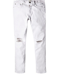 White Ripped Skinny Jeans for Men | Men&39s Fashion