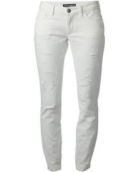 White Ripped Skinny Jeans for Women | Women's Fashion