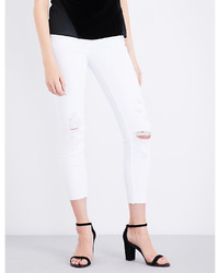 J Brand 835 Distressed Skinny Mid Rise Jeans