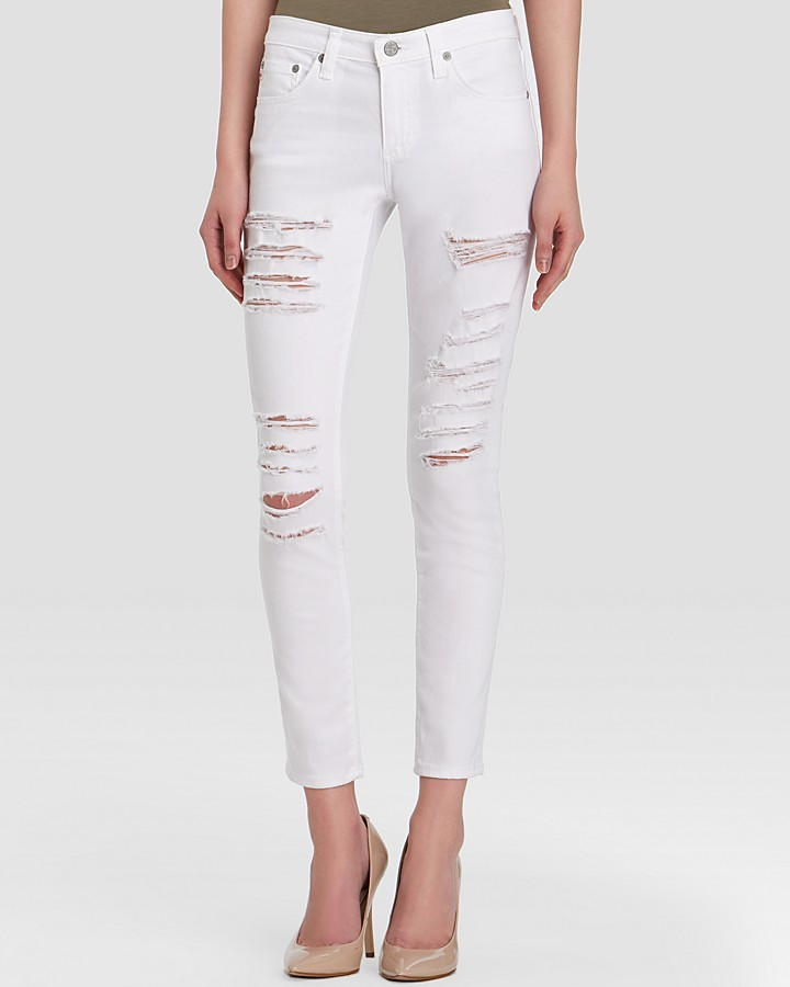 AG Jeans Legging Ankle In One Year Shredded White | Where to buy