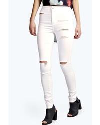 Boohoo Lara Ripped Tube Jeans