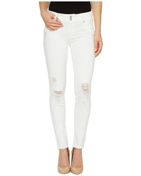 Hudson Collin Mid Rise Skinny Flap Pocket Jeans In Demolish
