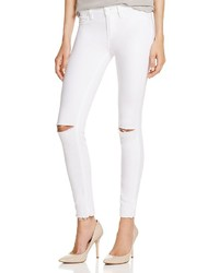 Paige Denim Verdugo Distressed Skinny Jeans In White Mist Destroyed