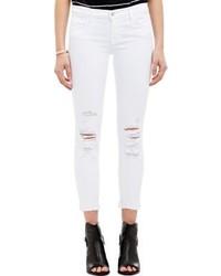 J Brand Deted Jeans White