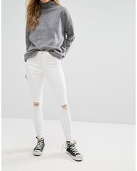 New Look Distressed Knee Skinny Jeans