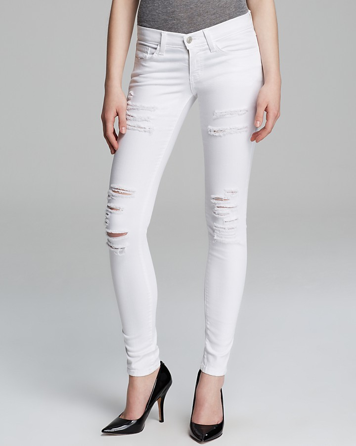 Ripped White Skinny Jeans Photo Album - Reikian