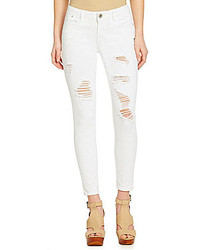 Gb Distressed Denim Skinny Jeans