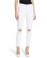 L'Agence Highline Ripped Skinny Jeans