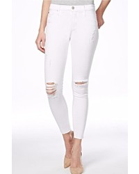 Hudson Jeans Nico Mid Rise White Jeans