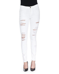 Le color rip skinny distressed jeans blanc de blancs medium 339837