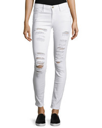 Le color rip skinny distressed jeans winter white medium 339825