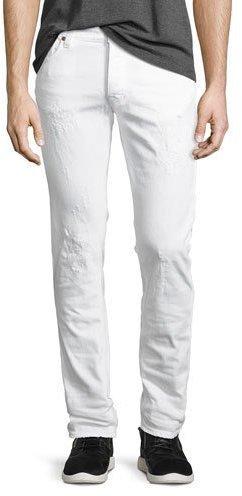 816bed2c2be Nudie Jeans Nudie Tilted Tor Distressed Skinny Jeans White, $230 ...