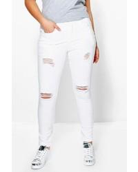 Boohoo Plus Naomi Rip Detail Skinny Jean