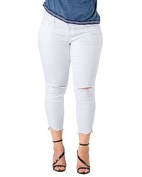 Plus size standards practices tessa chewed hem stretch skinny jeans medium 6716960