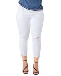 Plus size standards practices tessa chewed hem stretch skinny jeans medium 6716960