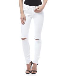 Paige Premium Denim White Mist Destroy Skinny
