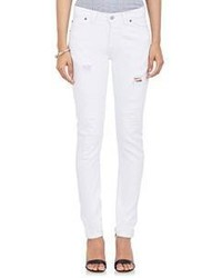 Redone Straight Skinny Jeans White Size 24