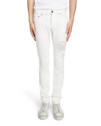 Saint Laurent Slim Fit Distressed Jeans