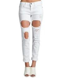 Sneak Peek White Ripped Jeans