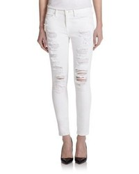 Current/Elliott The Stiletto Distressed Skinny Jeans