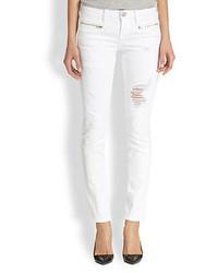 True Religion Victoria Distressed Skinny Moto Jeans