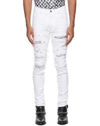 Amiri White Bandana Thrasher Jeans