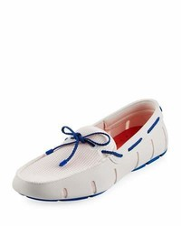 Swims Mesh Rubber Braided Lace Boat Shoe Whiteroyal