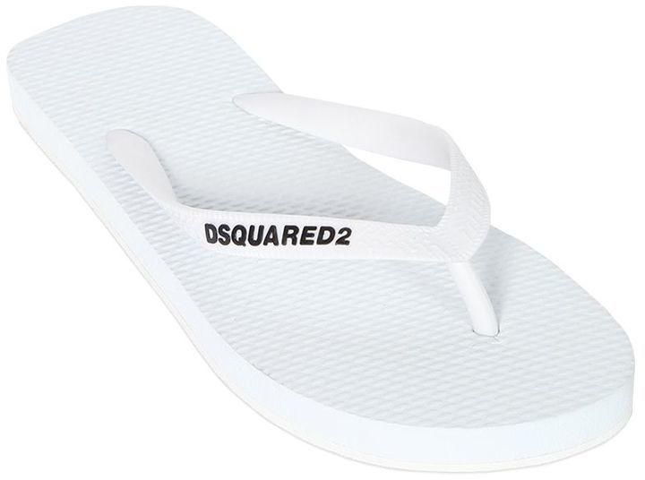 DSQUARED2 Printed Rubber Flip Flops