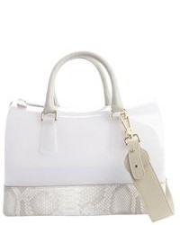Opaline rubber snake embossed leather trim candy satchel medium 79496